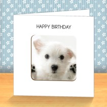 Jack Russel Puppy Coaster Card