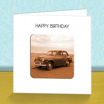 Vintage Car Coaster Card