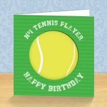 Tennis Coaster Card