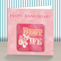 Wife Anniversary Coaster Card