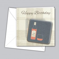 Whisky Coaster Card