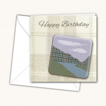 Mountain Scene Coaster Card
