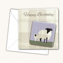 Sheep Coaster Card