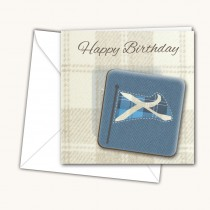 Blue Flag Coaster Card