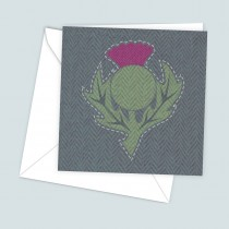 Thistle Dark Greeting Card