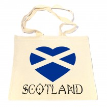 Scotland Heart Cotton Shopper