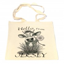 Daisy Cow Cotton Shopper Bag