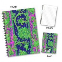 Floral Design Wiro Notebook