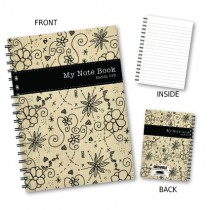 Floral 'My Note Book' Wiro