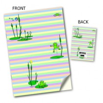Frogs on Lily Pads Stitched Notebook