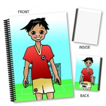 Cartoon Footballer Notebook