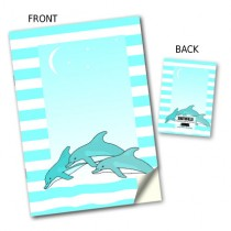 Dolphin Design Stitched Notebook