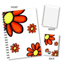 Red Flower Pattern Notebook