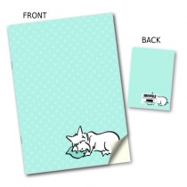 Green Spot Dog Stitched Notebook