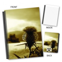 Thistle Image Coil Notebook