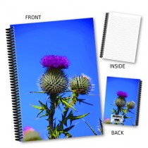 Thistle and Sky Coil Notebook