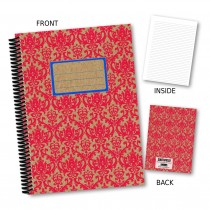 Red/Blue Patterned Notebook