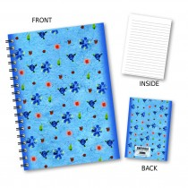 Delicate Blue Floral Wiro Note