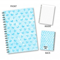Blue Bows Wiro Notebook