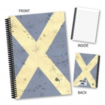 Scottish Flag Vintage Notebook