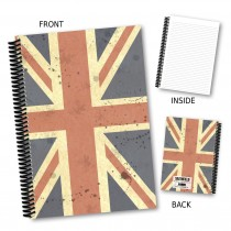 Coloured vintage Flag Notebook