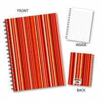 Red Stripe Wiro Notebook