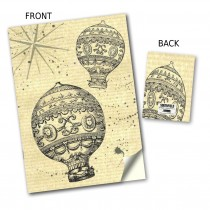 Hot Air Balloon Stitched Notebook