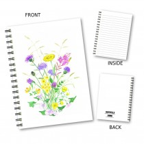 Pastel Floral Wiro Notebook