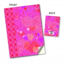Pink Heart Stitched Notebook