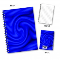 Blue Swirl Wiro Notebook