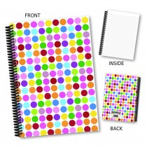 Multi Coloured Spots Notebook