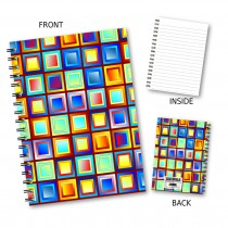 Multi Square Pattern Notebook