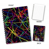 Grafitti Pattern Wiro Notebook