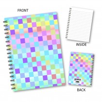 Coloured Chequer Wiro Notebook