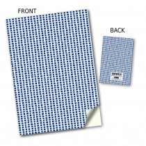 Black/White Gingham Stitched Notebook