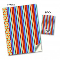 Coloured Stripe Stitched Notebook