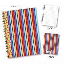 Coloured Stripe Wiro Notebook