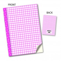 Pink Gingham Stitched Notebook