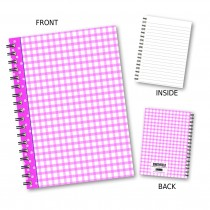 Pink Gingham Wiro Notebook