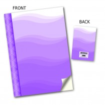 Purple Wave Stitched Notebook