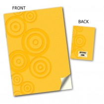 Yellow Circle Stitched Notebook