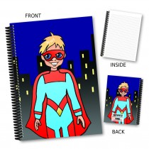 Cartoon Superhero Notebook