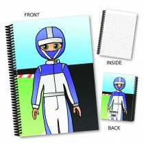 Cartoon Spaceman Notebook
