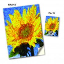 Sunflower Painting Stitched Notebook