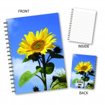Large Sunflower Wiro Notebook