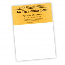 P-White Card 160gsm -30 sheets