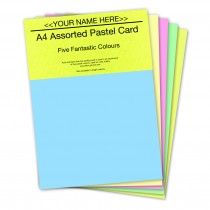 P- Assorted Pastel Card 160gsm
