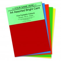 P- Assorted Bright Card 160gsm