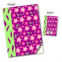 Pink Flower Stitched Notebook