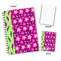 Pink Flower Wiro Notebook